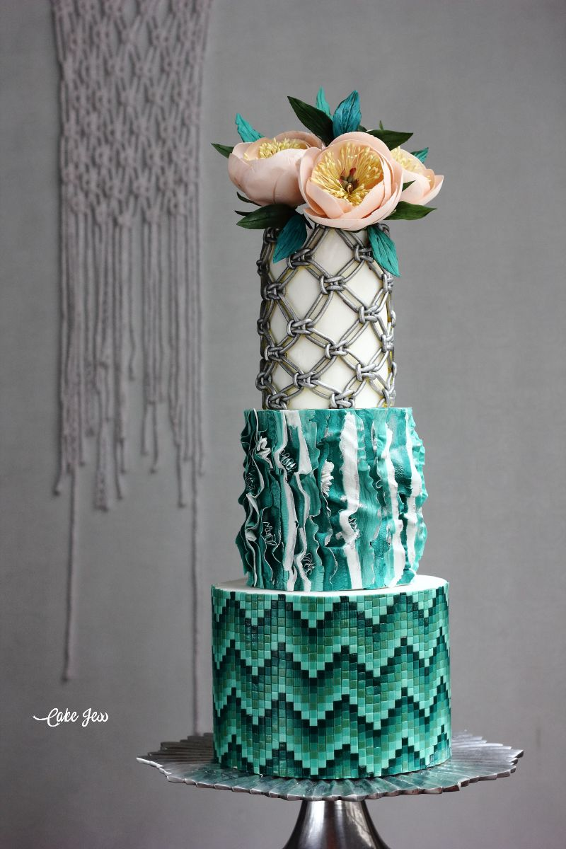 Boho Glam Wedding Cakes