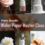 "Video Bundle Course: Wafer Paper Masterclass (A bundle of ""Wafer paper Realistic Flowers"" & "" Wafer Paper Creative Textures"")"
