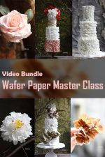 "Video Bundle Course: Wafer Paper Masterclass (A bundle of ""Wafer paper Realistic Flowers"" & "" Wafer Paper Creative Textures"")"