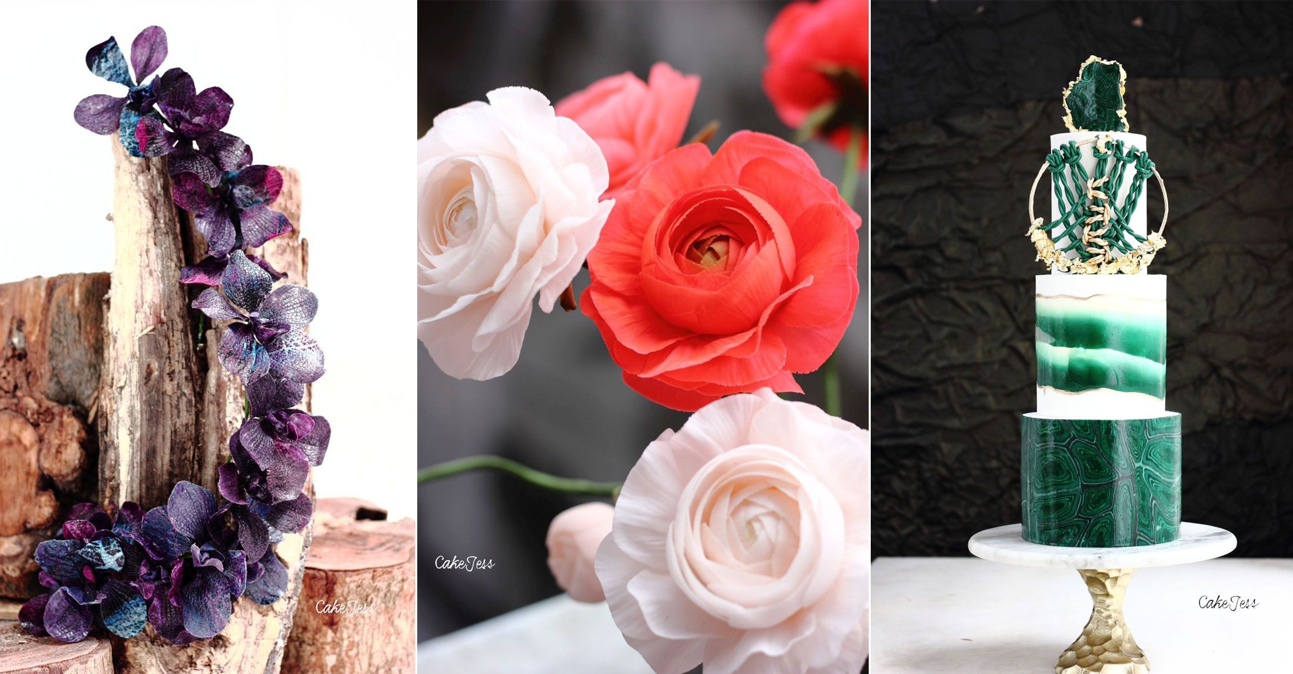 Masterclass of flowers & textures with modified modelling chocolate