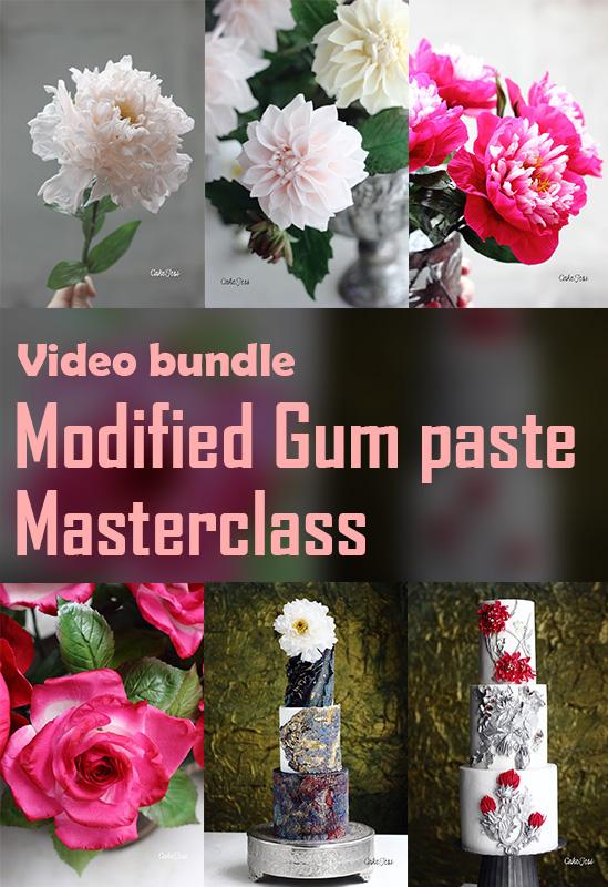 Modified Gum Paste Masterclass (A bundle of Modified Gum Paste Modules 1,2,3,4)