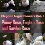 Elegant Sugar Flowers Volume 1- Peony Rose, English Rose & Garden Rose