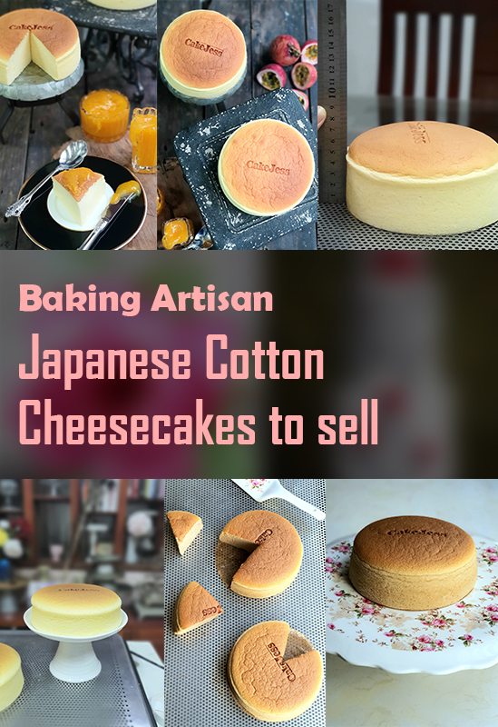 Baking Artisan Japanese Cotton Cheesecakes for selling-Basic Course