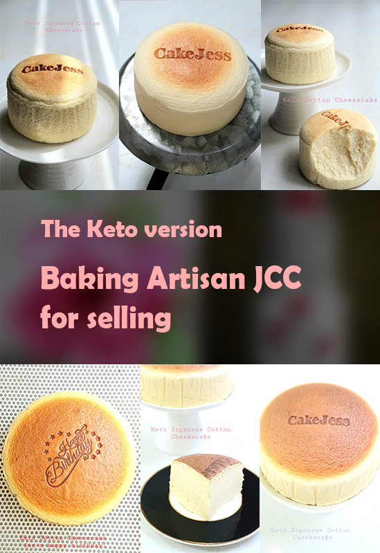 Baking Artisan Japanese Cotton Cheesecakes for selling – the Keto version